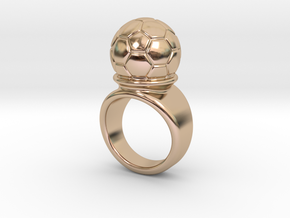Soccer Ball Ring 33 - Italian Size 33 in 14k Rose Gold Plated