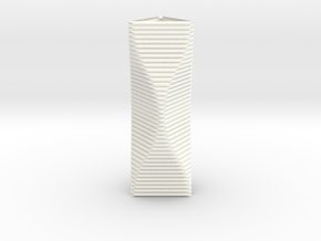 Curved Structure Long Column - Rigid Accordion in White Strong & Flexible Polished