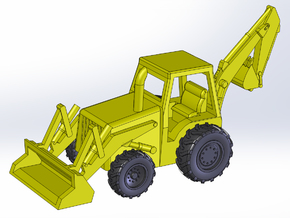 Backhoe Loader Z Scale in Frosted Ultra Detail