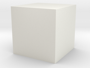 Cube-1cm3-centered In Meter in White Strong & Flexible