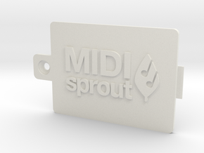 MIDI Sprout Battery Door 002a in White Strong & Flexible