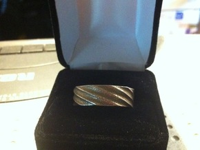 Spiral Ring Size 8 in White Strong & Flexible