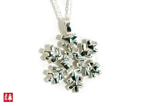 Snowflake sparkle in Polished Silver