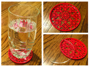 "3-1/4"" Coaster 4 (Insert) in Red Strong & Flexible Polished"