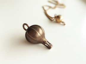 Air Balloon Pendant – Large in Polished Bronze Steel