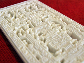 """Pakal's tomb stone lid - aka """"The Mayan Spaceship"""" in White Strong & Flexible"""