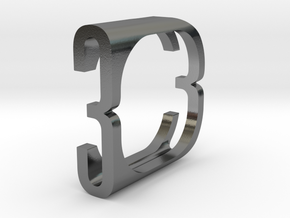 Fontasy Ring - Select character and size in Polished Silver