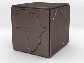 Paperweight Africa in Stainless Steel