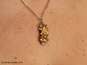 Becia the Nudibranch Pendant & Earrings in Raw Brass
