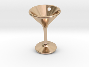 Tiny Little Martini Earring in 14k Rose Gold Plated