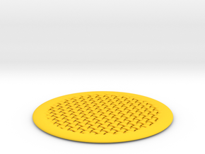 DRAW coaster - woven in Yellow Strong & Flexible Polished