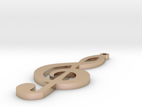 1.8 Treble Clef Earring in 14k Rose Gold Plated