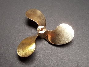 "Propeller, 2.5"" RH, for 1:8 scale Monterey Clipper in Raw Brass"