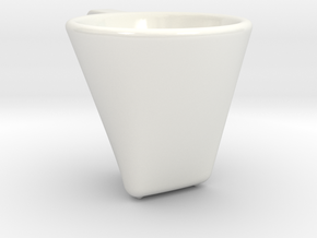 'Dark coffee' cup in Gloss White Porcelain