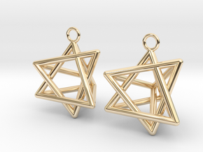 Pyramid triangle earrings type 8 in 14k Gold Plated