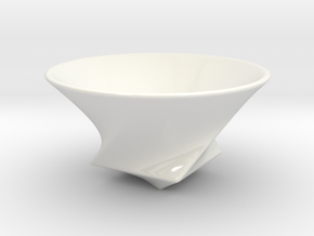 Rice Bowl (Circle, Triangle, and Square) in Gloss White Porcelain
