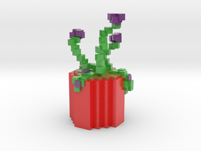 Coco's Minecraft Plant in Coated Full Color Sandstone