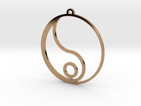 Yang (one of two pieces) in Polished Brass