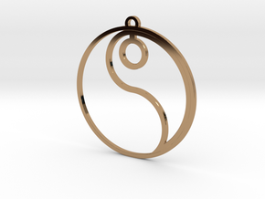 Ying (one of two pieces) in Polished Brass