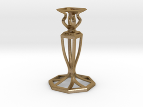Signature Candlestick in Polished Gold Steel