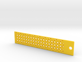 DRAW bookmark - woven in Yellow Strong & Flexible Polished