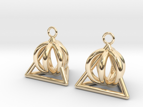 Pyramid triangle earrings serie 3 type 2 in 14k Gold Plated