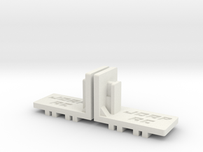 Mini-Z Lateral Body Mount for R8 & 458 in White Strong & Flexible