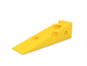 Door Stop in Yellow Strong & Flexible Polished