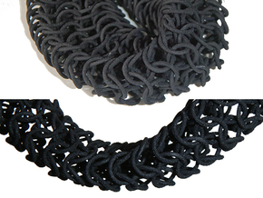 Knights Necklace in Black Strong & Flexible