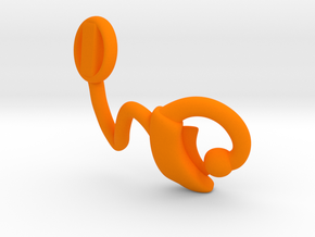 Makies Cochlear Implant: RIGHT EAR in Orange Strong & Flexible Polished