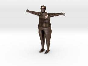 Scaled Reference Model (Average Human Male) in Polished Bronze Steel