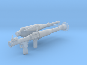 RPG launcher 1:16 scale with rockets in Frosted Ultra Detail