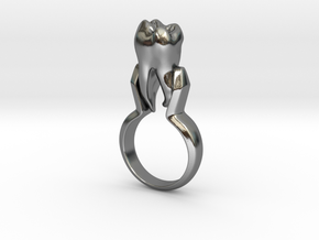 Tooth Ring (Size 7) in Polished Silver