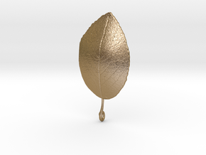 Leaf in Polished Gold Steel