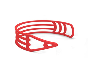"Bracelet ""Pencil"" in Red Strong & Flexible Polished"