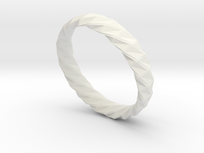Twistium - Bracelet P=190mm h15 Alpha in White Strong & Flexible