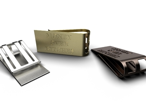 Money Over Bitches Money Clip in Matte Bronze Steel