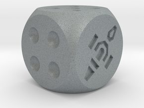 Dice Standard in Polished Metallic Plastic