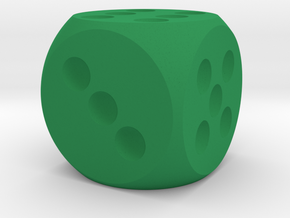 D-6 20mm in Green Strong & Flexible Polished