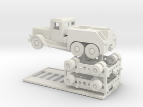 1/144 Kaelble with Culemeyer tank transporter in White Strong & Flexible
