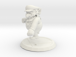 Super Smash Bros. Melee Wario Figure + Trophy Stan in White Strong & Flexible