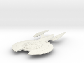 Cross Class BattleCruiser in White Strong & Flexible