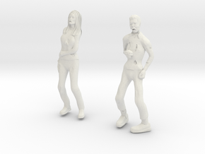 Zombie Male And Female in White Strong & Flexible