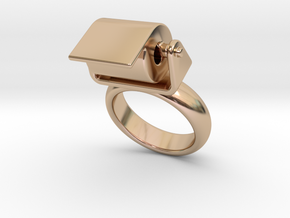 Toilet Paper Ring 15 – Italian Size 15 in 14k Rose Gold Plated