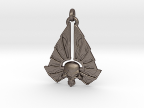 Winged Skull 01 - 60mm in Stainless Steel