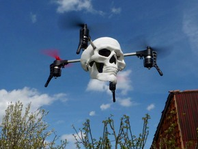 Skull case for Micro Drone 3.0 in White Strong & Flexible