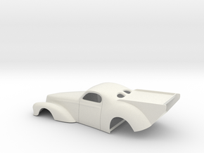 1/18 41 Willys Pro Mod Version II in White Strong & Flexible
