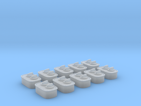 1/24 scale Wall Switch E Set 10 Units in Frosted Ultra Detail