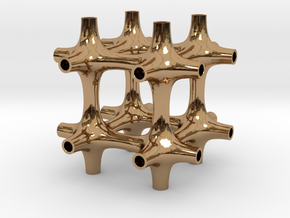 0523 IsoSurface F(x,y,z)=0 (5cm) #007-2 KOSEKOMA in Polished Brass