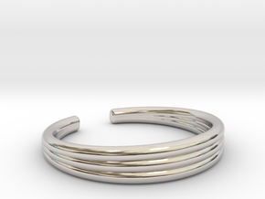 TRIBAND STANDARD 7 RING in Rhodium Plated